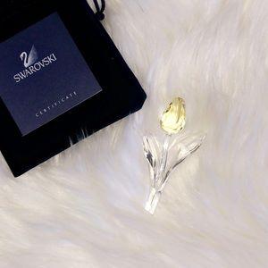 🆕SWAROVSKI Yellow Crystal Tulip Figurine